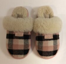Ugg Kid Slippers Plaid Pink  100602 Youth SIZE 1