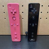 (2)Nintendo Wii Motion Plus OEM Remote Controller Wiimote RVL-036 1 Black/1 Pink