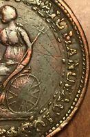 1813 LOWER CANADA HALF PENNY TOKEN SPREAD EAGLE BR.994 - Nice Overstrike error