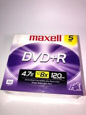 Maxell 5 Pak Dvd+R 120 Min