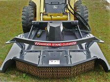"""Bradco Ground Shark Brushcutter for Track Loaders,HI Flow,Cut 7"""" Trees, In Stock"""