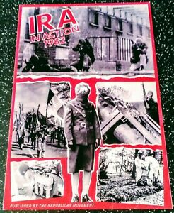 IRISH REPUBLICAN MOVEMENT POSTCARD IRA VOLUNTEERS IN ACTION 1982 SINN FEIN PIRA