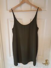 Khaki Vest Top ~ UK Size 16