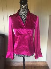 WOMEN'S AGB PINK/ ORCHID  LONG SLEEVE SHIRT TOP/BLOUSE SIZE  SMALL