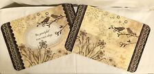 Counter Art Reversible Placemats Set Of 4 Birds Flowers Be Grateful For This Day