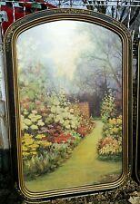 Vtg Art Deco Frame H. Lewis R. Atkinson Fox Print Flower Garden 1920's Barbola