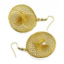 European Style Spiral Earring Twisted Drop Dangle Hook Charming Jewelry Gold