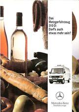 Prospekt / Brochure Mercedes 310 D Metzgerfahrzeug 06/1992