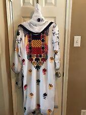 Indian Pakistani White  Embroidered Chiffon Salwar Kameez Suits