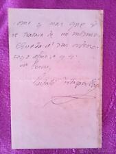 CARTA MANUSCRITA FIRMADA POR JACINTO VERDAGUER 1895