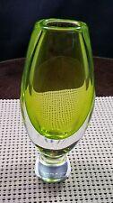 Vic Lindstrand Kosta Boda Fully Signed Art Glass Vase