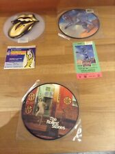 "THE ROLLING STONES 7"" VINYL PICTURE DISCS & TICKETS"