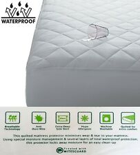 """12"""" EXTRA DEEP WATERPROOF QUILTED MATTRESS PROTECTOR EXTRA DEEP - ALL SIZES"""