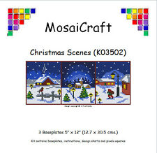 MosaiCraft Pixel Craft Mosaic Art Kit 'Christmas Scenes' Pixelhobby