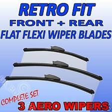 Front & Rear flat Wipers For Nissan Micra MK3 98-02