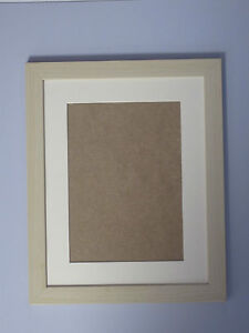 Ivory Effect 7x9 Picture  Photo Frame  Mount 4.5x6.5  Hang