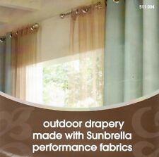 New Sunbrella Spa Blue Outdoor Drapery 50in x 84in Sunbrella Outdoor Curtain