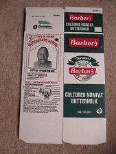 Flat 1986 Barbers Buttermilk Carton Ottis Anderson Cardinals Unused Never folded
