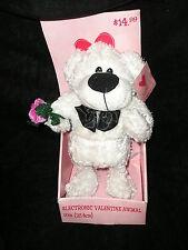 Electronic 2005 Animated Singing Valentine Boogie Oogie Woogie White Bear   NIB