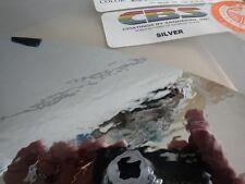 "Dichroic Glass:CBS 96 COE Silver on Flat Smooth Black - 3""Sq"