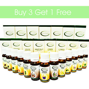 100% Natural Pure Essential Oils Therapeutic Grade Aromatherapy BUY 3 GET 1 FREE