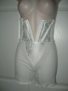 Cupid Medium High Waist White Shapewear Girdle #20379 Firm Tummy Control  New