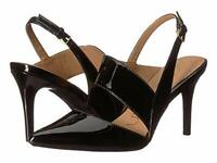 Calvin Klein Womens Gianna Pointed Toe Bridal Slingback Sandals, Black, Size 8.5