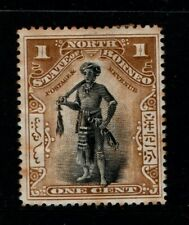 North Borneo 1897 1902 1 cent Dyak Chief SG92a Mint MH
