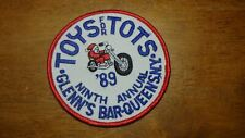 QUEENS NEW YORK  TOYS FOR TOTS MOTORCYCLE ROCKER  PATCH  BX 2#20