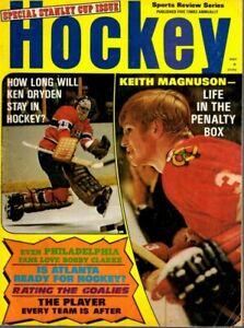 1972 Sports Review Hockey magazine Ken Dryden, Canadiens, Keith Magnuson ~ Fair