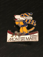 Vintage Collectible Mont Ste Marie Quebec Skiing Colorful Metal Pinback Lapel
