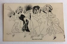 CPA. Illustrateur Xavier SAGER. Rue de la Paix. Elegantes. Chapeaux. Paris.