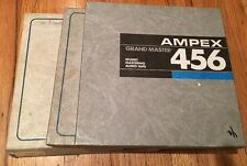 "AMPEX GRAND MASTER 456 10.5"" 1/2"" METAL REEL TO REEL TAPES **3 PIECES **"