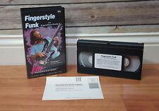 Vintage 1993 Fingerstyle Funk Bass Guitar VHS Video Francis Rocco Prestia