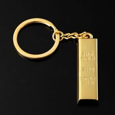 Hot Gold Plated Cool Brick Key Ring Chain Keychain New Fashion Cute Lover Gift