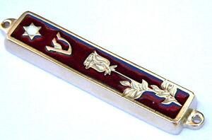 "Mezuzah Case Mezuza Rose Flower Design Made in Israel, for 3"" Parchment Scroll"
