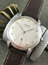 COLLECTABLE TISSOT CAL 27 MOVEMENT SS CASE FANCY LUGS 35mm REFINISHED DIAL