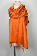 SCIARPA seta, silk stole scarf soie écharpe FOULARD ARANCIONE seitseman