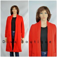 Zara Red Wool Wrap Coat Size L Free P&P RRP £69 New With Tags
