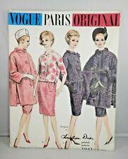 Christian Dior VOGUE PARIS ORIGINAL PATTERN 1041 2 Piece Suit & Coat Sz 10 Label