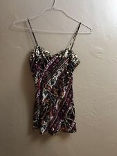 Diane Von Furstenberg Multi-Colored Silk Natalya Sequined Tank Top Size S
