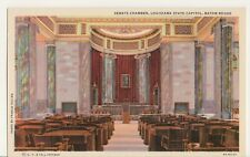 Vintage Postcard, Senate Chamber, State Capitol, Baton Rogue, Louisiana