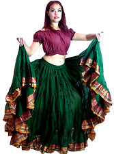 Women's ATS Belly Dance 25 Yard Cotton Maxi Skirt - ATS Dance