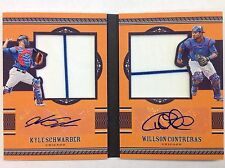 #/49 Kyle Schwarber RC Auto Willson Contreras Rookie Jersey Autograph Book Cubs