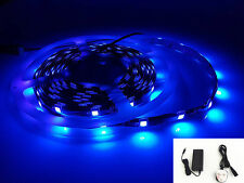 12V Real UV (Ultraviolet) 5M Strip Light Full Kit With Adapter 150xSMD5050 LEDs