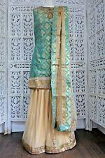 Sea Green & Gold Ghagara sharara choli Suit UK 8 / EU 34 new  SKU16741