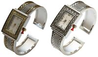 Blekon Collections Women's Fashion Rectangle Face Designed Bangle Cuff Watch