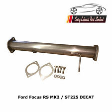 "FORD FOCUS RS MK2 / ST225 Decat pipe T304 Stainless Steel 3"" Bore BEST VALUE"