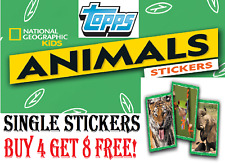 "TOPPS National Geographic Kids - Animals  SINGLE STICKERS ""BUY 4 GET 8 FREE"""
