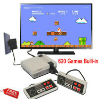 Mini TV Game Console Classic 620 Games Built-in W/2 Controller For Kids Gifts